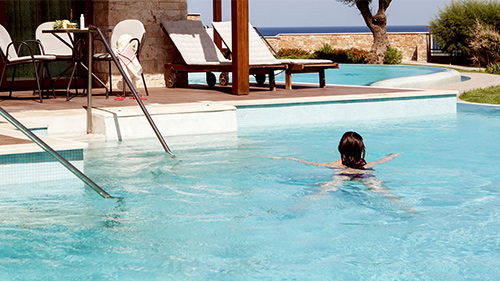 Sommarens swim up-hotell »